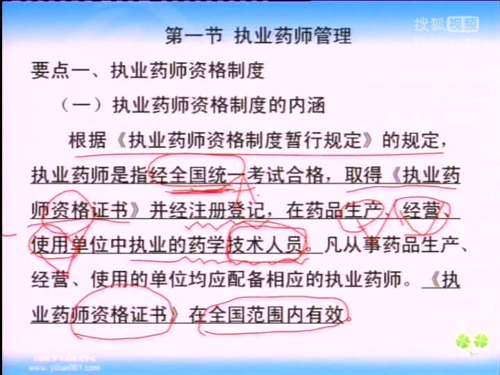 文都2015执业中/西药师药事管理与法规强化视频