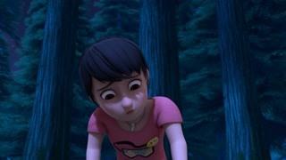 天黑的森林吓坏赵琳?不听光头强的话吃亏在眼前
