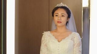 徐梓潼穿上婚纱