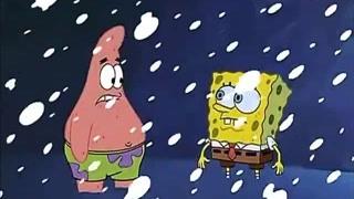海绵宝宝派大星快被冻死了 珊迪的皮毛真暖和