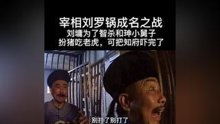 刘墉扮猪吃老虎去衙门状告和珅小舅子奎海,知府以为是贫民告状,暴打刘墉,这下完了#宰相刘罗锅 #南阳正恒MCN