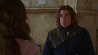 兰思洛本打算和亚瑟王的未婚妻告别 但不不巧被亚瑟王发现并揭发