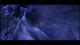 艾尔莎逃到雪山