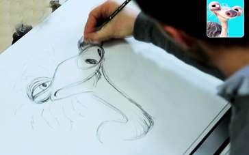 《冰川时代5》制作特辑 画师手绘森仔婆婆速成