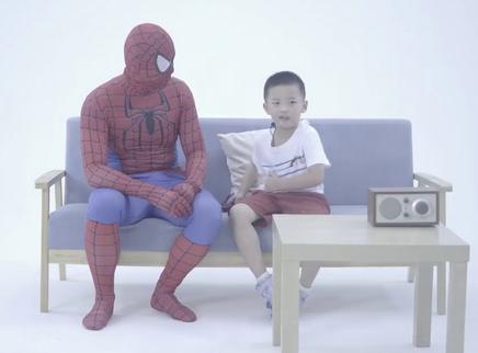 9月全家一起为电影《蜘蛛侠:英雄归来》打CALL