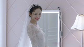 子萱穿婚纱的样子太美了