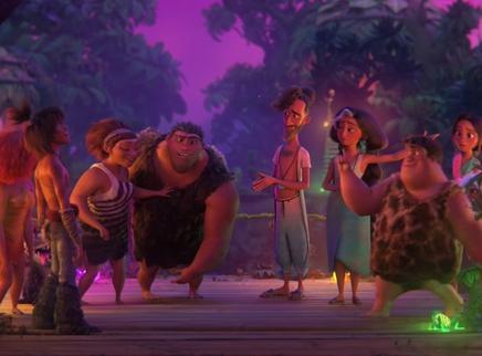 《疯狂原始人2》正片片段 咕噜家族生活方式遭挑战