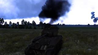 战争雷霆 国外玩家在战争雷霆中重现《狂怒》谢尔曼大战虎式!