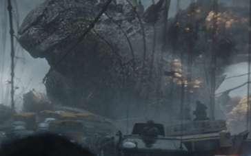 《哥斯拉》精彩片段 巨型怪兽海底翻腾惊悚现身