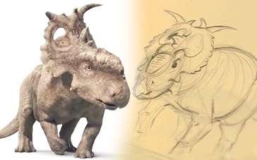 《与恐龙同行》特辑 手绘恐龙栩栩如生跃然成型