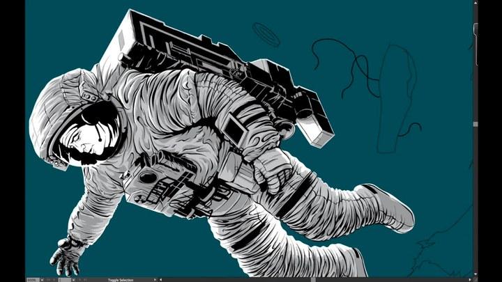 地心引力 其它花絮:海报绘制过程