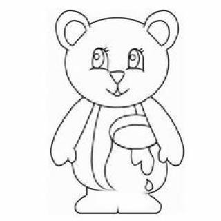呆萌可爱卡通小熊简笔画 头像图片表情包大全 表情