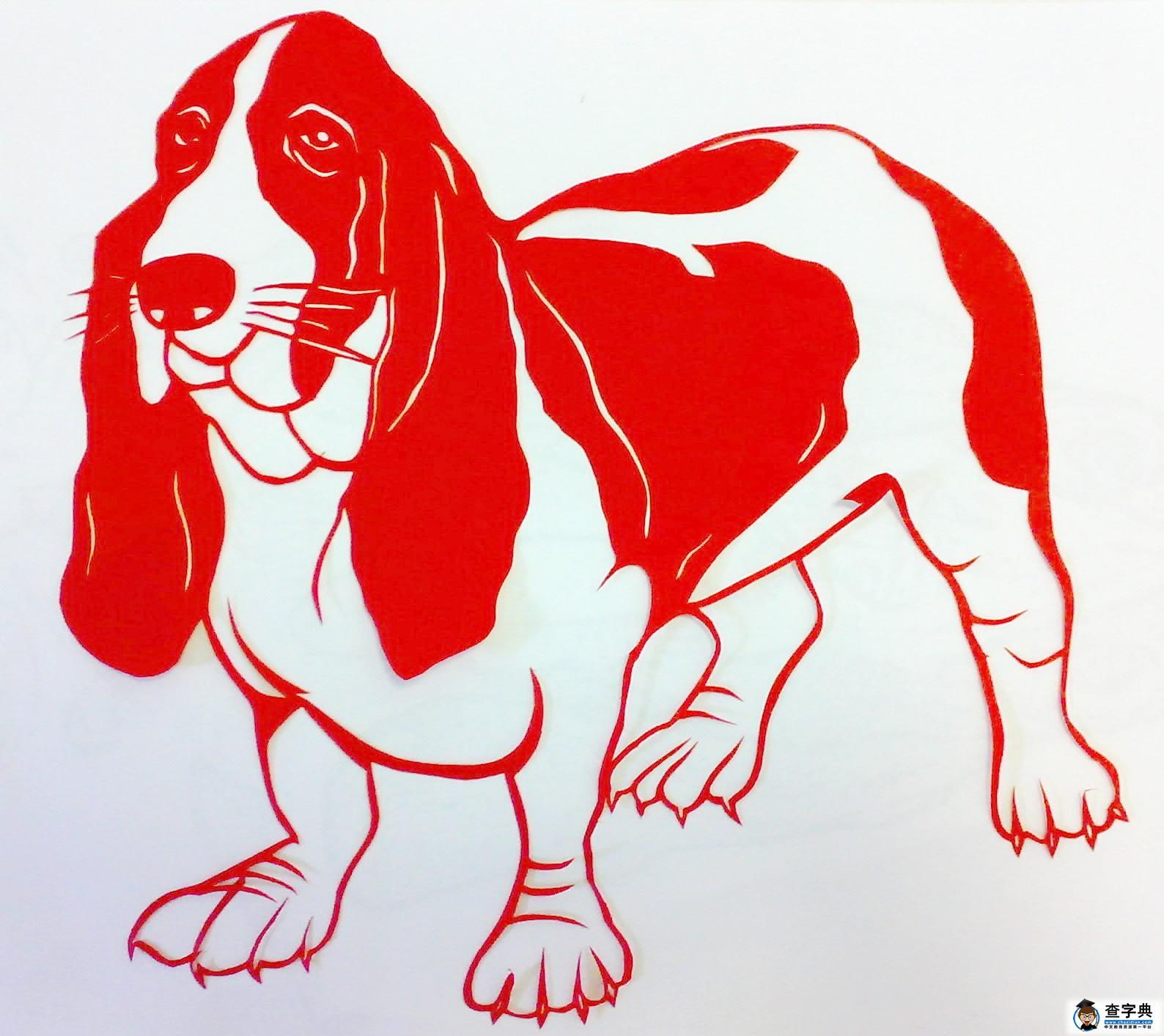 表情 简单剪纸图案大全 可爱的小狗 儿童剪纸 查字典幼儿网 表情