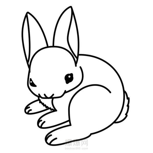 表情 学习怎么画兔子简笔画小白兔简笔画的画法 爆爆简笔画 表情