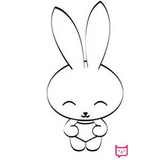 表情 可爱的兔子简笔画 板报网 表情