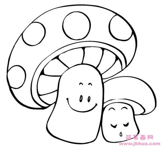 表情 卡通蘑菇简笔画 简笔画网 表情