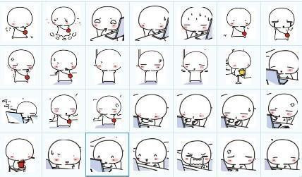 表情 最新手绘小表情 手绘小表情简单画法 表情图片