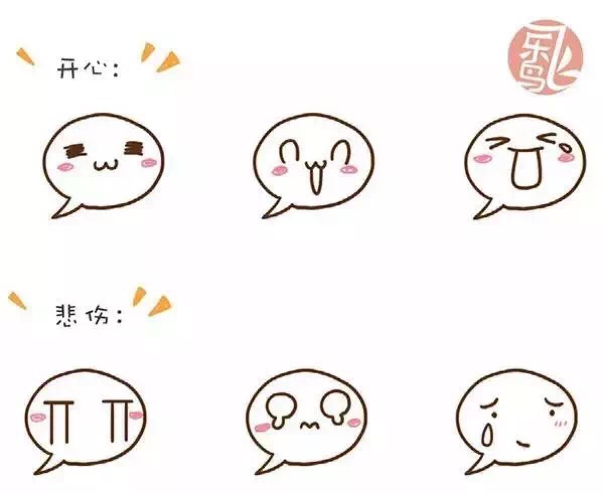 表情 简笔画表情图案大全 2 花边图案简笔画 表情