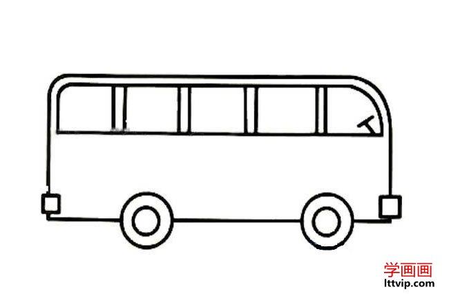表情 简单公共汽车简笔画图片 学画画 表情