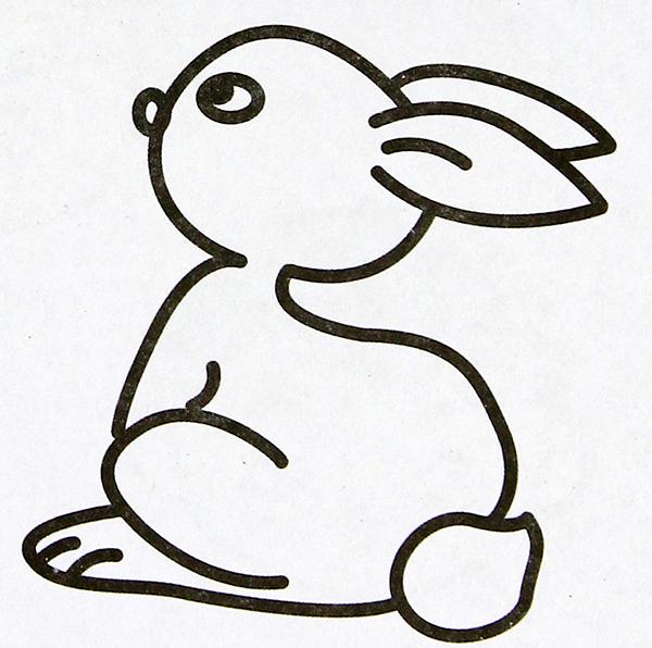 表情 卡通动物兔子简笔画 表情