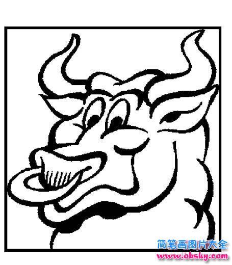 表情 牛的头像简笔画 简笔画小牛 儿童简笔画图片大全 表情