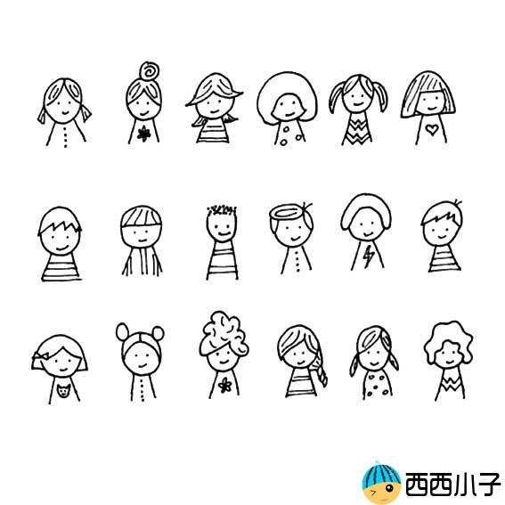 表情 萌翻你的手账简笔画可爱卡通人物 2 格格 表情
