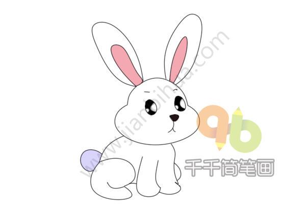 表情 长耳朵兔子简笔画 简约型文化普通难度 陆地动物 千千简笔画 表情