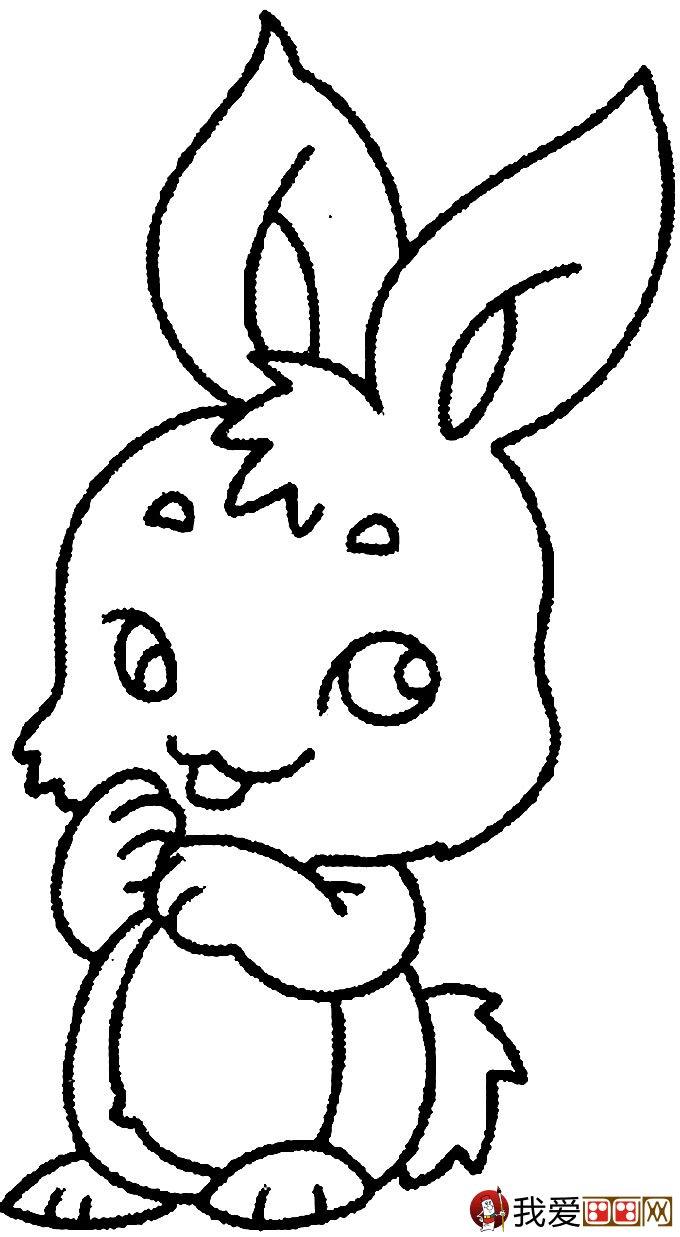 表情 可爱的兔子简笔画图片大全 3 儿童画教程 学画画 我爱画画网 表情