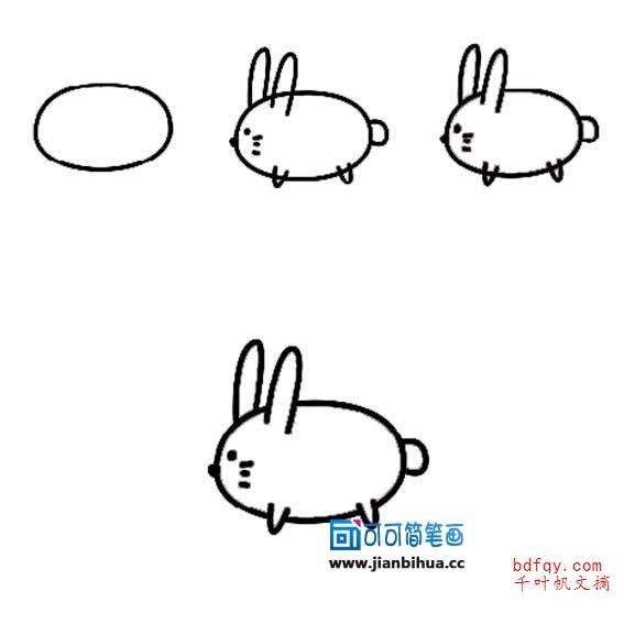 表情 简笔画小白兔的画法 小白兔简笔画图片大全,优秀简笔画 千叶帆文摘 表情