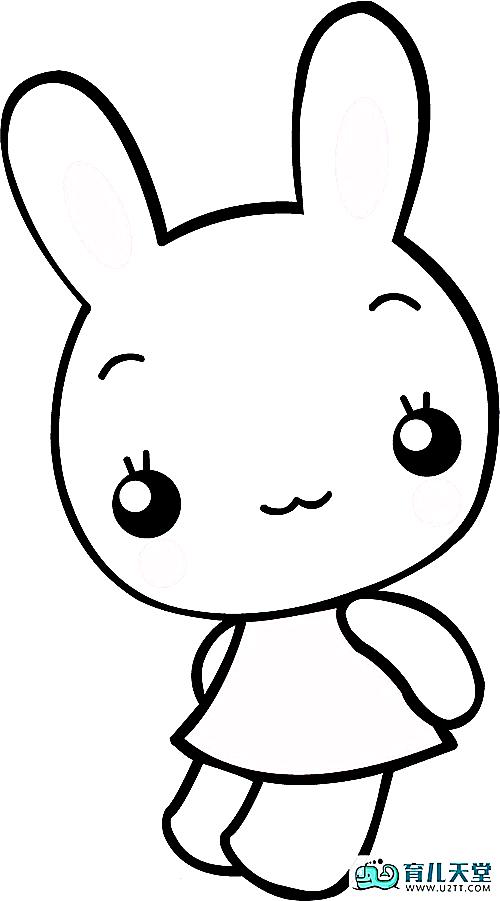 幼儿园小白兔简笔画,幼儿园画小兔子步骤 育儿天堂 表情