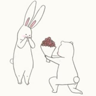 表情 活泼可爱的小兔子简笔画头像快乐每一天开心每一秒 头像图片表情包大全 表情