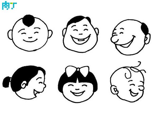 表情 儿童图画简笔画作品学习各种人物的笑容 肉丁儿童网 表情