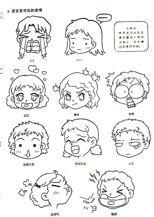 表情 q版人物表情简笔画 第1页 一起QQ网 表情