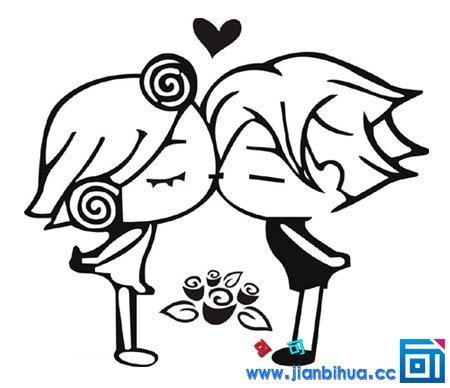 情 小情侣卡通简笔画 情侣之间简笔画 情侣黑白小人简笔画 情侣动漫