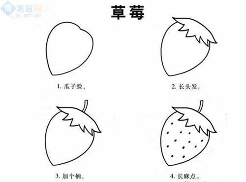 表情 水果植物简笔画步骤,儿童啦网 表情