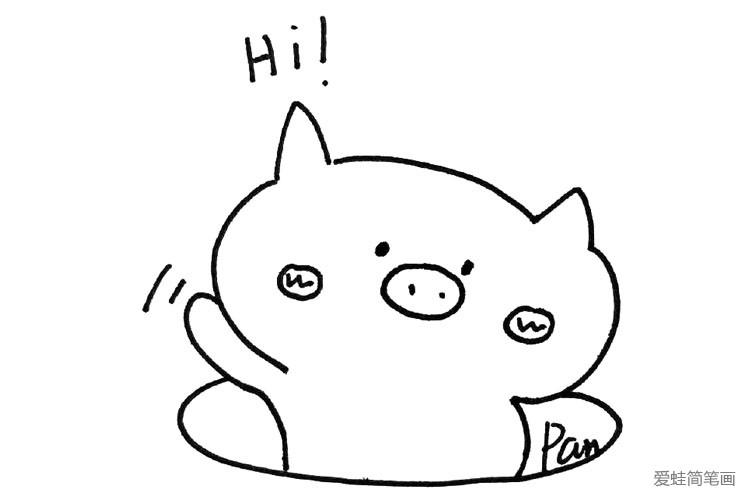 包 3 小猪 简笔画大全 表情