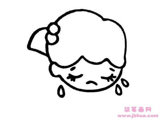 表情 人物脸部表情简笔画 哭泣的小女孩 简笔画网 表情