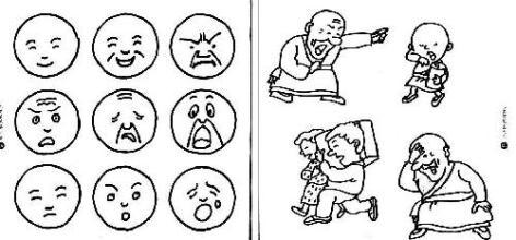 表情 害怕的面部表情简笔画 简单的面部表情简笔画 人的面部表情简笔画 害怕的  表情图片