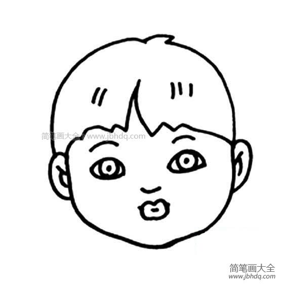 表情 小男孩头像简笔画 人物头像简笔画 简笔画大全 表情