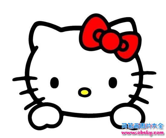表情 hello kitty头像简笔画 HelloKitty 儿童简笔画图片大全 表情