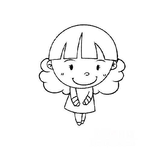 表情 简笔画人物图片 温顺的小女孩 温顺的小女孩简笔画人物简笔画
