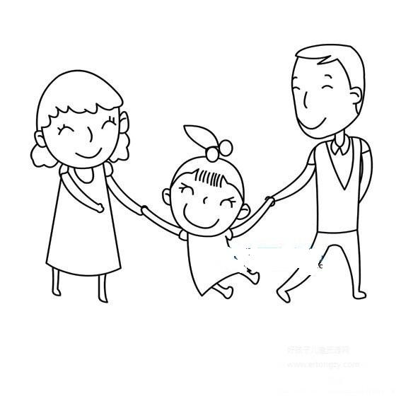 表情 一家三口人物简笔画,一家三口人物的简笔画画法 人物简笔画  表情