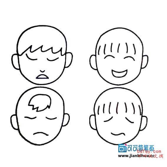 表情 表情简笔画大全可爱 人物面部表情简笔画 表情图片