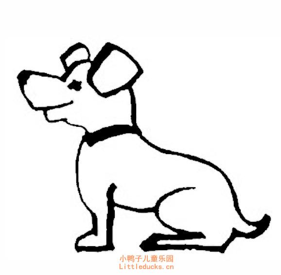 表情 幼儿简笔画图片大全 可爱的卡通小狗简笔画 11 动物简笔画狗,