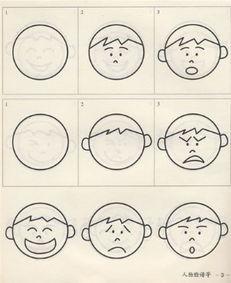 表情 生气面部表情简笔画 各种面部表情简笔画 愤怒面部表情简笔画