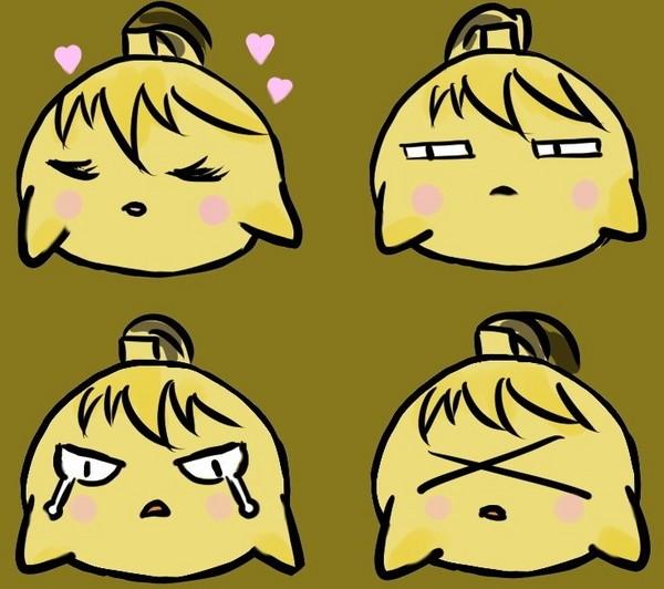 表情 放开那个二少爷手绘呆萌小黄鸡表情套 剑网3小黄鸡,表情套 图片
