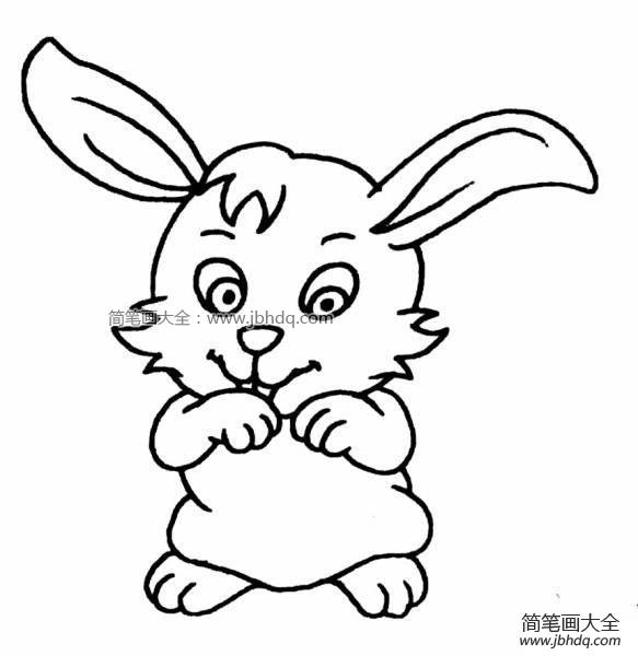 表情 卖萌的兔子 兔子简笔画 简笔画大全 表情