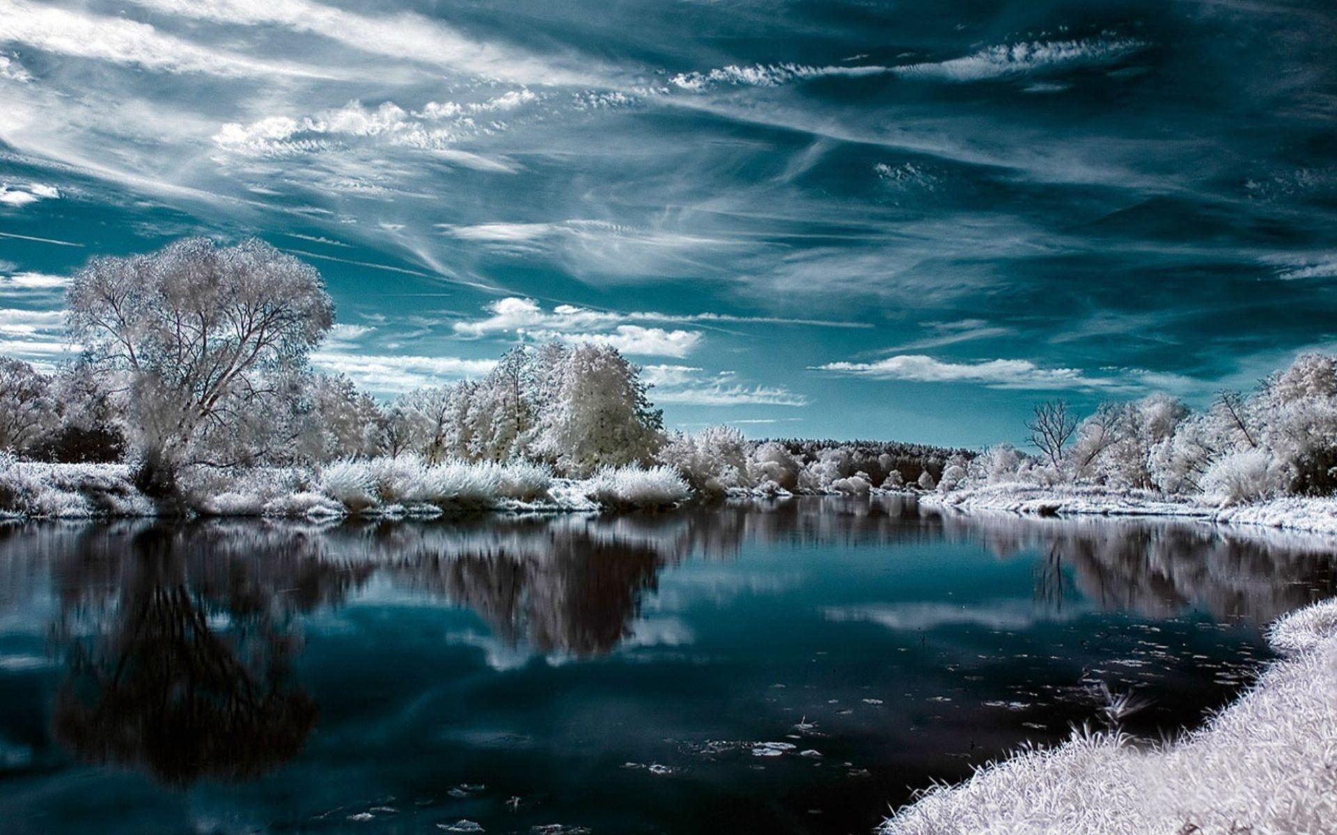 电脑桌面壁纸小樽雪景-的景观唯美高清电脑壁纸图片