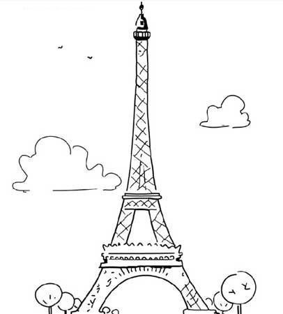 埃菲尔铁塔简笔画 埃菲尔铁塔游记 埃菲尔铁塔简笔画 教育 太平洋亲