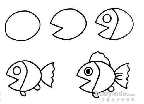 爱小鱼可爱动物简笔画大全 动物简笔画 中国婴幼儿教育网 表情